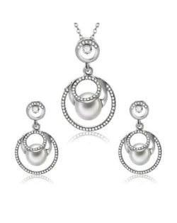 Pearl Fashion Rings Combo Design Elegant Fashion Women Alloy Jewelry Set