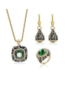 Jeweled Fashion 3pcs U.S. Style Vintage Women Costume Jewelry Set