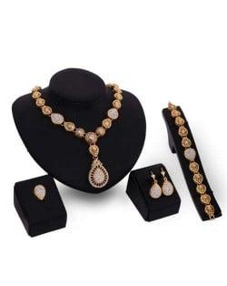 Western Bold Fashion 4pcs Party Style Women Costume Jewelry Set