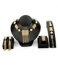 Western High Fashion Bold Tassel Design Alloy Women Wholesale Jewelry Set