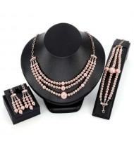 European Alloy Beads Tassel Design Women Wholesale Fashion Jewelry Set