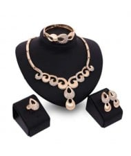 Feather Design U.S. High Fashion Party Style Women Wholesale Costume Jewelry Set