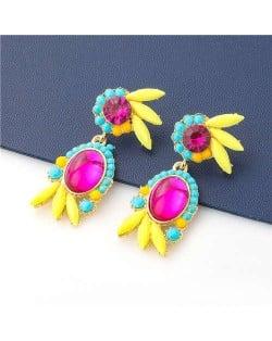 Cute Floral Design Resin Fashion Women Wholesale - Rose