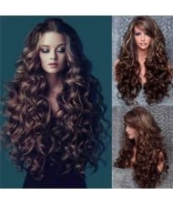 U.S. High Fashion Body Wave Fluffy Long Curly Synthetic Hair Women Wholesale Wig