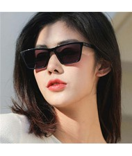 Classic Gentle Simple Design Square Slim Frame Outdoor Fashion Wholesale Sunglasses - Black