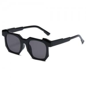 Personalized Design Irregular Thick Frame Cool Fashion Wholesale Sunglasses - Black