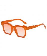 Personalized Design Irregular Thick Frame Cool Fashion Wholesale Sunglasses - Orange