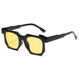 Personalized Design Irregular Thick Frame Cool Fashion Wholesale Sunglasses - Yellow
