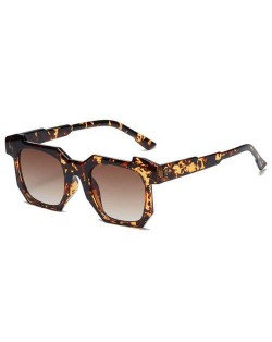 Personalized Design Irregular Thick Frame Cool Fashion Wholesale Sunglasses - Leopard