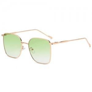 Fashion Wholesale Sunglasses Classic Slim Alloy Frame Jelly Color Sunglasses - Green