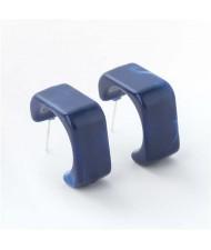 Summer Fashion Geometric Unique Design Resin Wholesale Earrings - Blue