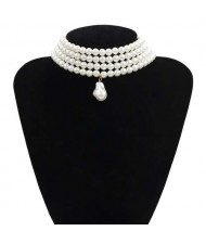 Baroque Style Wholesale Jewelry Multi-layer Artificial Pearl Design Necklace