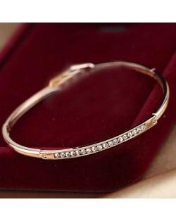 Austrian Rhinestones Inlaid Rose Gold Bracelet