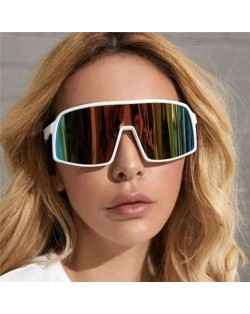 6 Colors Available Outdoor/ Cycling Fashion One-piece Design Women/ Men Sunglasses