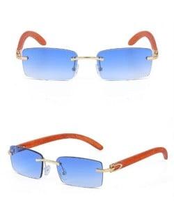7 Colors Available Vintage Frameless Design Wooden Grain Legs U.S. Fashion Men Wholesale Sunglasses