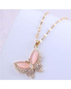 Classic Design Wholesale Jewelry Korean Fashion Bling Butterfly Romantic Lady Necklace