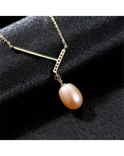 Unique Design Wholesale 925 Sterling Silver Jewelry Pearl Pendant Necklace - Pink