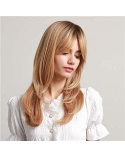 Gorgeous Blonde Straight Long Hair Synthetic Hair Women Wholesale Wig