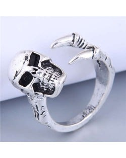 Vintage Style Wholesale Jewelry Skull Bold Fashion Men Statement Alloy Ring