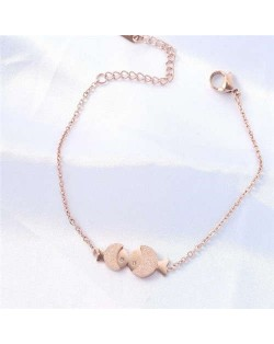 Sweet Pisces Chain Design Wholesale Stainless Steel Jewelry Korean Romantic Fashion Bracelet