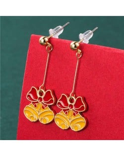 Elegant Style Bowknot Bells Boutique Design Wholesale Christmas Jewelry Fashion Dangle Earrings