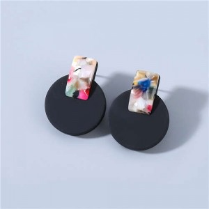 Bohemian Style Wholesale Jewelry Colorful Embellished Classic Design Women Vintage Round Ear Studs