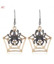 Spider Web Halloween Jewelry Fashion Women Statement Wholesale Earrings