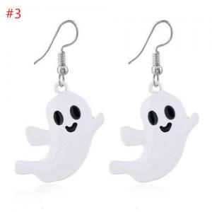Cute Smiling Ghost Modeling Halloween Theme Fashion Resin Earrings