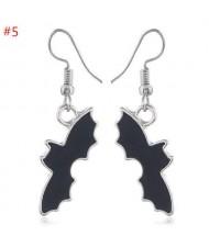 Halloween Series Black Bat Modeling Wholesale Jewelry Bold Fashion Earrings