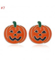 Halloween Classic Pumpkin Design Wholesale Fashion Jewelry Women Ear Studs