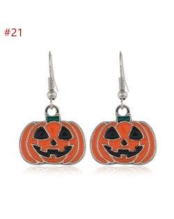 Wholesale Halloween Classic Fashion Jewelry Pumpkin Hook Design Costume Earrings