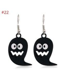 Popular Funny Black Ghost Halloween Series Wholesale Jewelry Costume Earrings