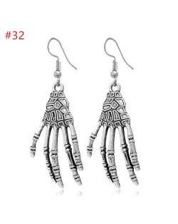 Popular Halloween Jewelry Vintage Silver Color Paw Wholesale Earrings