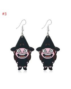 Wholesale Fashion Jewelry Halloween Series Creative Design Resin Hook Earrings - Magician