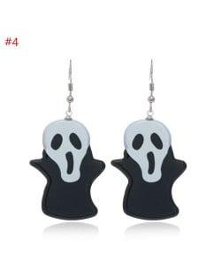 Wholesale Fashion Jewelry Halloween Series Creative Design Resin Hook Earrings - Ghost