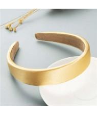 Korean Candy Color Minimalist Design Smoothy Silky Women Hair Hoop - Golden