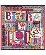 Assorted Alphabets Element Puzzle Design U.S. and European Fashion Women Square Scarf - Rose