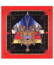 Royal Tent Design European Fashion 130*130 cm Women Square Scarf - Red