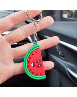 U.S.Fashion Cute Cartoon Fruit Series Soft Plastic Wholesale Key Chain - Watermelon