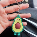 U.S.Fashion Cute Cartoon Fruit Series Soft Plastic Wholesale Key Chain - Avocado