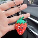 U.S.Fashion Cute Cartoon Fruit Series Soft Plastic Wholesale Key Chain - Strawberry