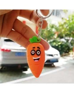 U.S.Fashion Cute Cartoon Fruit Series Soft Plastic Wholesale Key Chain - Carrot