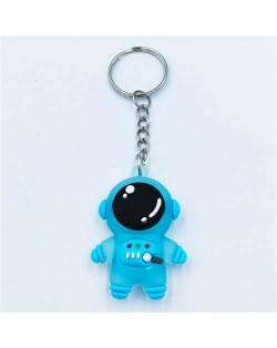 Popular Spaceman Design Handbag Pendant Cartoon Astronaut Key Chain - Blue