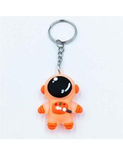 Popular Spaceman Design Handbag Pendant Cartoon Astronaut Key Chain - Orange