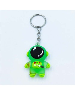 Popular Spaceman Design Handbag Pendant Cartoon Astronaut Key Chain - Green