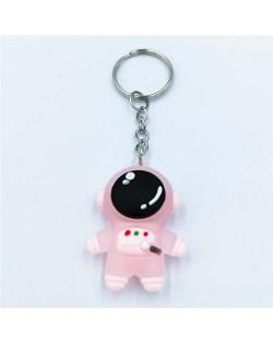 Popular Spaceman Design Handbag Pendant Cartoon Astronaut Key Chain - Pink