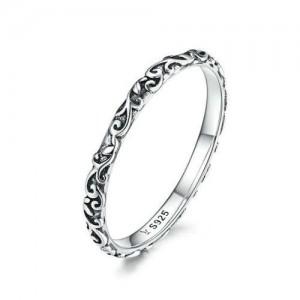 Vintage Embossing Design Wholesale 925 Sterling Silver Women Ring
