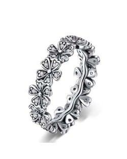 Flower Series Vintage Color Elegant Daisy Wholesale 925 Sterling Silver Ring