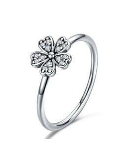 Minimalist Daisy Flower Series Wholesale 925 Sterling Silver Women Vintage Ring