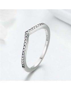 V Shape Design Wholesale 925 Sterling Silver Minimalist Ring